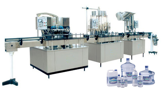 Semiautomatic Water Bottling Machine