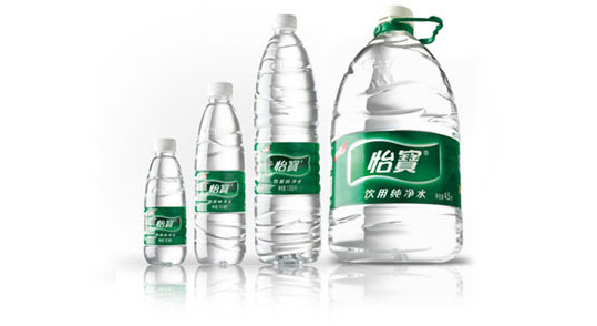 Use PVC lable Bottle water