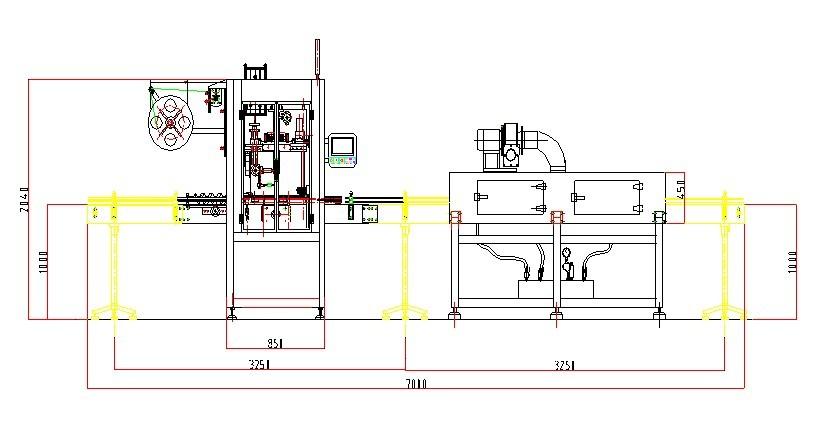layout of shrinking labeling machine